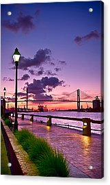 Savannah River Bridge Acrylic Print by Renee Sullivan