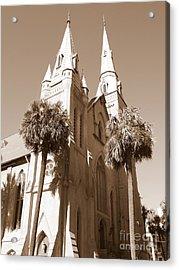 Savannah Sepia - Methodist Church Acrylic Print by Carol Groenen