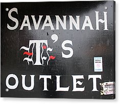 Savannah T's Outlet Acrylic Print by Joseph C Hinson Photography