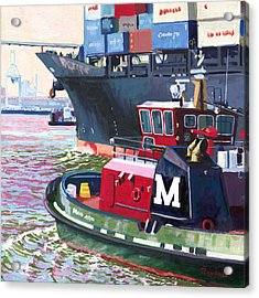 Savannah Tug Acrylic Print by David Randall