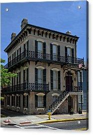 Savannah's Broughton And Houston Streets Acrylic Print