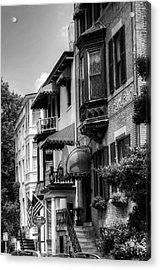 Savannah's Foley House Inn In Black And White Acrylic Print