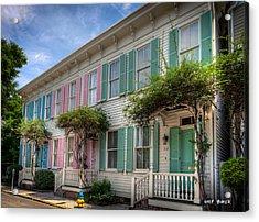 Savannah's Rainbow Row Acrylic Print