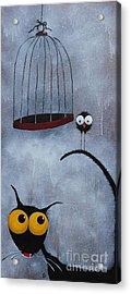 Save The Bird Acrylic Print by Lucia Stewart