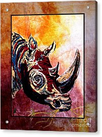 Save The Rhino Acrylic Print by Sylvie Heasman