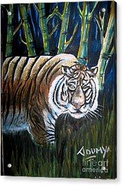 Save The Tiger Acrylic Print by Soumya Suguna