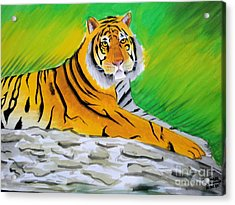 Save Tiger Acrylic Print by Tanmay Singh