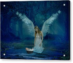 Saved By An Angel Acrylic Print