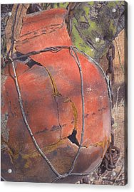 Acrylic Print featuring the mixed media Saved By Fortuity by Carla Woody