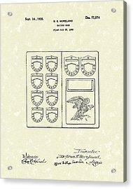 Savings Book 1926 Patent Art Acrylic Print by Prior Art Design