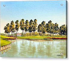 Sawgrass Tpc Golf Course 17th Hole Acrylic Print by Bill Holkham