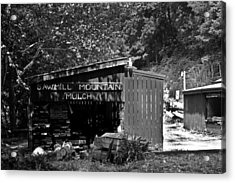 Sawmill In Black And  White Acrylic Print by John Holloway