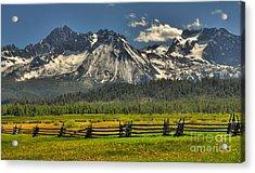 Sawtooth Mountains Acrylic Print