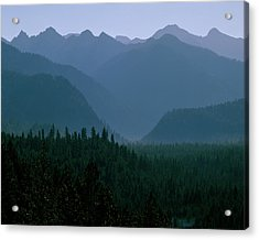 Sawtooth Mountains Silhouette Acrylic Print