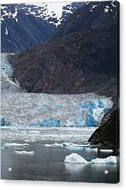 Acrylic Print featuring the photograph Sawyer Glacier Blue Ice by Jennifer Wheatley Wolf