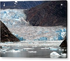 Acrylic Print featuring the photograph Sawyer Glacier by Jennifer Wheatley Wolf