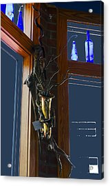 Acrylic Print featuring the photograph Sax At The Full Moon Cafe by Greg Reed