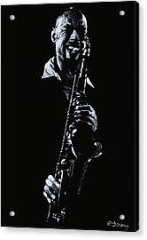 Sax Player Acrylic Print by Richard Young