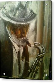 Sax Acrylic Print by Razvan Juretcu