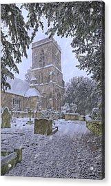 Saxon Church In Winter Acrylic Print