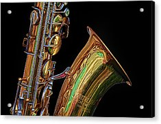 Acrylic Print featuring the photograph Saxophone by Dave Mills