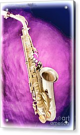 Saxophone Jazz Instrument Bell Painting In Color 3272.02 Acrylic Print