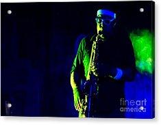 Saxophone Acrylic Print by Jill Hyland