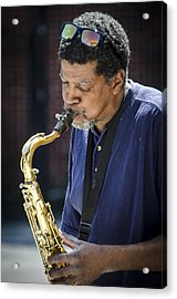 Saxophone Player 2 Acrylic Print by Carolyn Marshall