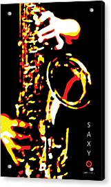 Saxy Black Poster Acrylic Print by David Davies