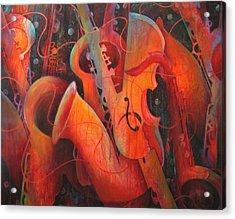 Saxy Cellos Acrylic Print