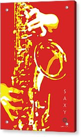 Saxy Red Poster Acrylic Print