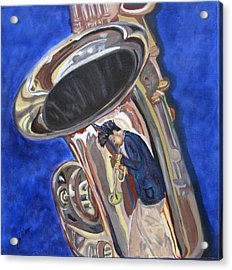 Saxy Reflection Sold Acrylic Print