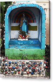 Say A Prayer In Bocas Acrylic Print by John Rizzuto