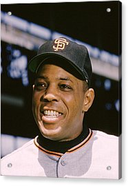 Say Hey Willie Mays Acrylic Print by Retro Images Archive