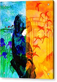 Saying Goodbye Acrylic Print by Bruce Manaka