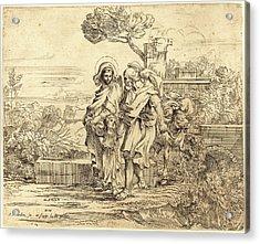 Sébastien Bourdon, French 1616-1671, The Rest Acrylic Print