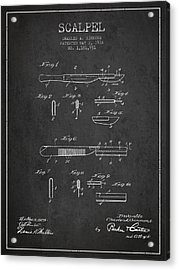 Scalpel Patent From 1916 - Dark Acrylic Print by Aged Pixel