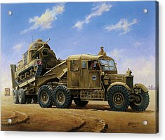 Scammell Pioneer 1942. Acrylic Print by Mike  Jeffries