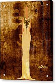 Scarab Sista Goddess Acrylic Print by Romaine Head