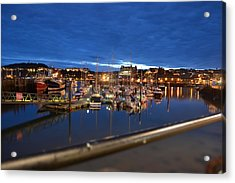 Scarborough Bay Acrylic Print by Dave Woodbridge