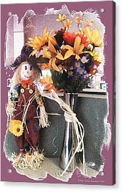 Scarecrow And Company Acrylic Print by Patricia Keller