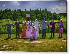 Scarecrow Wedding Acrylic Print by Garry Gay