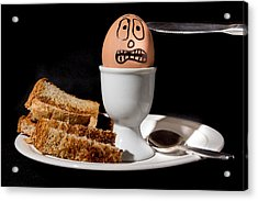 Acrylic Print featuring the photograph Scared Egg by Gary Gillette