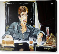 Acrylic Print featuring the painting Scarface by Judy Kay