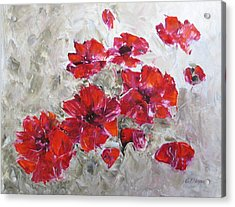 Scarlet Poppies Acrylic Print