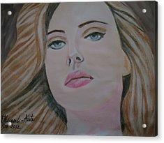 Scarlett Johannson Acrylic Print by Fladelita Messerli-