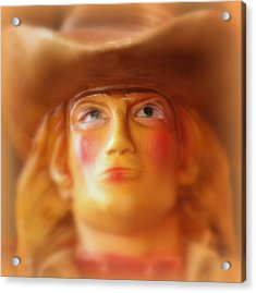 Acrylic Print featuring the photograph Scary Cowgirl by Lynn Sprowl