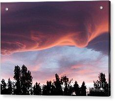 Scary Desert Sky Acrylic Print by Deborah Smolinske