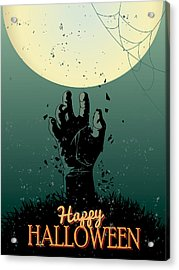 Acrylic Print featuring the painting Scary Halloween by Gianfranco Weiss