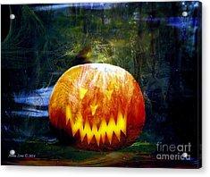 Scary Pumpkin Halloween Art Acrylic Print